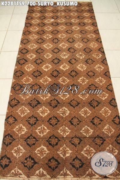 Kain Batik Istimewa Bagusnya Bahan Busana Lengan Panjang Modis Dan Elegan, Kain Batik Tulis Soga Halus Motif Suryo Kusumo Cocok Untuk Baju Kerja Pejabat