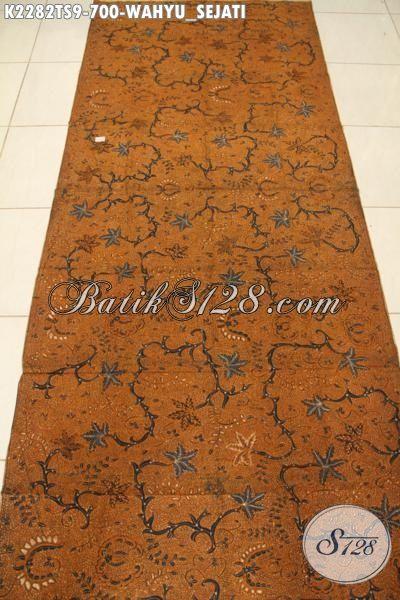 Aneka Produk Kain Batik Istimewa Bahan Busana Mewah Halus Proses Tulis Soga, Batik Klasik Wahyu Sejati Bahan Blus Mewah Tampil Lebih Anggun