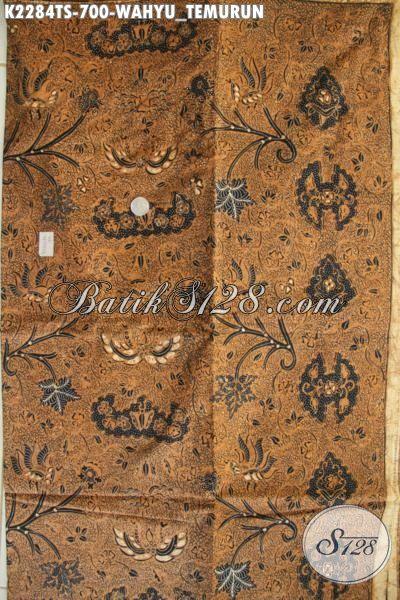 Batik Klasik Wahyu Tumurun Tulis Soga, Bahan Busana Elegan Dan Mewah, Batik Jawa Etnik Istimewa Buat Kemeja Pria Dan Blus Wanita Karir
