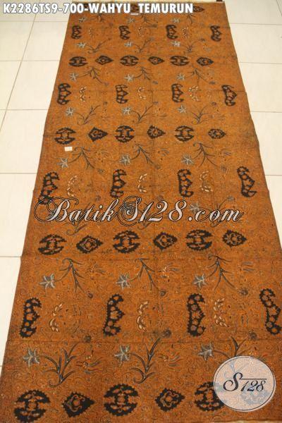 Batik Halus Dan Mewah Proses Tulis Soga, Batik Bahan Pakaian Premium Motif Wahyu Tumurun Harga 700K