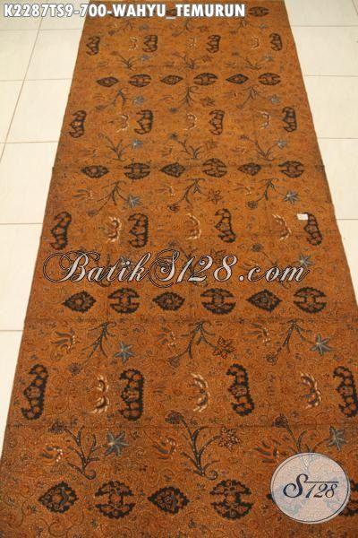 Jual Online Batik Premium Harga Grosir, Kain Batik Istimewa Khas Jawa Tengah Proses Tulis Soga Motif Wahyu Tumurun, Cocok Untuk Seragam Kerja