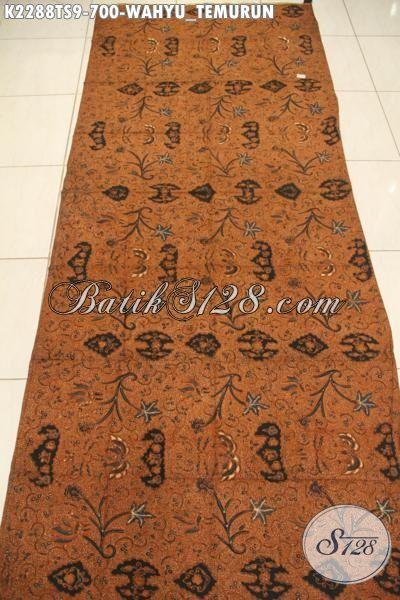 Batik Kain Wahyu Tumurun Proses Tulis Soga Di Jual Online Harga Grosir, Cocok Untuk Baju Kondangan Dan Seragam Kerja Nan Istimewa