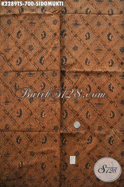 Produk Kain Batik Klasik Motif Sidomukti Premium Asli Tulis Angan Pewarna Soga, Batik Jawa Etnik Istimewa Untuk Baju Formal Nan Mewah