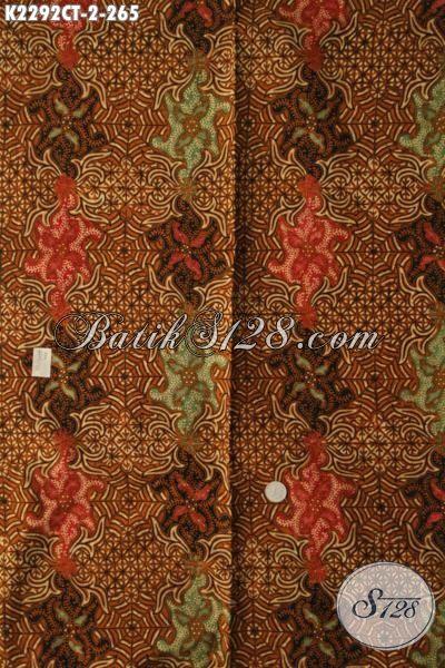 Kain Batik Istimewa Kwalitas Premium Proses Cap Tulis, Batik Motif Mewah Bahan Busana Formal Pria Masa Kini Untuk Penampilan Lebih Berwibawa [K2292CT-240x110cm]
