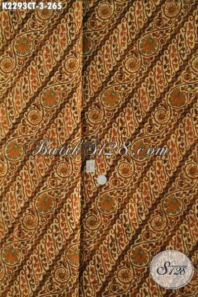 Batik Kain motif Parang Nan Elegan, Batik Halus Proses Cap Tulis Bahan Kemeja Pria Untuk Penampilan Lebih Berwibawa