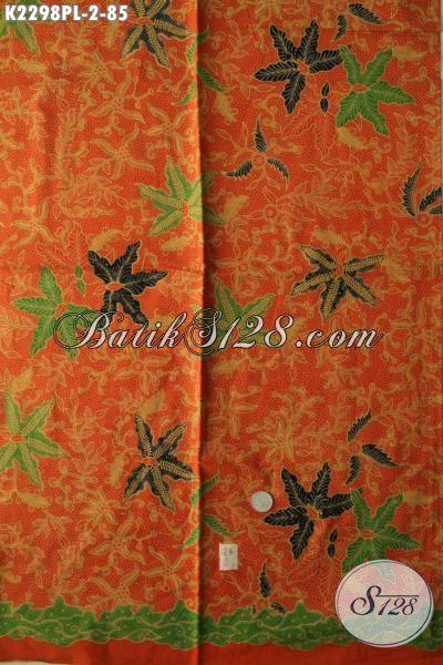 Batik Kain Istimewa Proses Print Lase, Batik Jawa Tengah Terbaru Motif Bagus Kwalitas Halus Cocok Untuk Busana Kerja Wanita Karir [K2298PL-240x110cm]