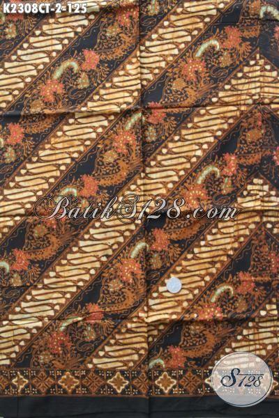Kain Batik Motif Parang Warna Elegan, Batik Modis Bahan Kemeja Pria Untuk Penampilan Lebih Modis Dan Gaya Proses Cap Tulis
