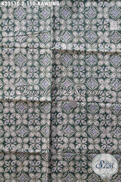 Kain Batik Klasik Motif Kawung Proses Cap Tulis, Jual Produk Batik Online Bahan Busana Elegan Penunjang Penampilan Di Kantor [K2311CT-200x110cm]