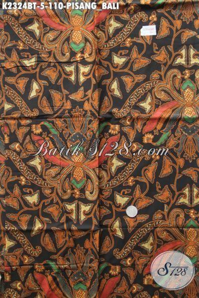 Batik Klasik Khas Jawa Tengah Bahan Busana Formal Motif Pisang Bali Proses Kombinasi Tulis [K2324BT-200x110cm]
