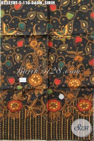 Jual Online Batik Kain Klasik Jawa Tengah Motif Daun Sirih Proses Kombinasi Tulis, Batik Halus Bahan Pakaian Formal Bikin Penampilan Lebih Elegan [K2325BT-200x110cm]