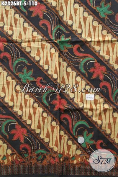 Kain Batik Klasik Kombinasi Tulis Motif Parang Bunga, Batik Halus Dan Istimewa Bahan Busana Formal Pria Tampil Lebih Gagah