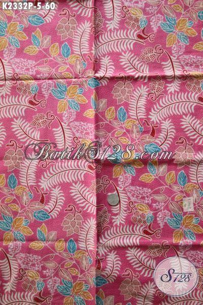 Jual Kain Batik Pink Harga 60 Ribu, Batik Bahan Pakaian Wanita Muda Dan Remeja Putri Proses Print Motif Keren