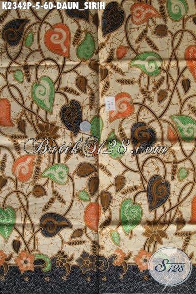 Kain Batik Printing Motif klasik, Batik Solo Istimewa Motif Suruh Suruh Kwalitas Bagus Bahan Busana Formal