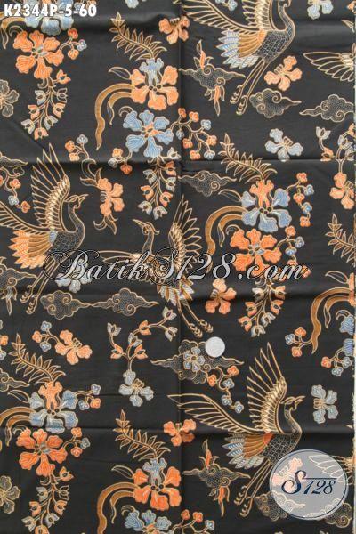 Batik Trendy Dasar Hitam, Batik Motif Trend Masa Kini Bahan Busana Cowok Kwalitas Bagus Penunjang Penampilan Lebih Keren