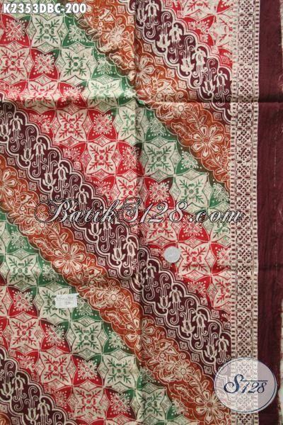 Batik Parang Trend Motif Terkini Dengan Perpaduan Warna Modern Nan Mewah, Batik Berbahan Doby Halus Proses Cap Untuk Busana Pria Dan Wanita Tampil Semakin Stylish
