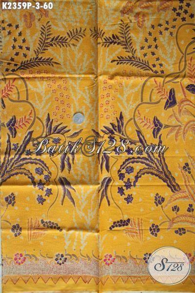 Aneka Kain Batik Warna Kuning Motif Bagus Proses Print, Batik Soo Masa Kini Bahan Pakaian Wanita Dan Pria Tampil Lebih Istimewa
