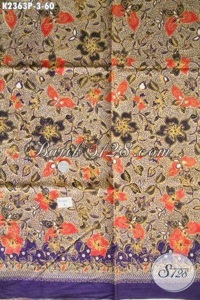 Batik Kain Motif Bunga Bahan Dress Wanita Muda Proses Printing Harga Murmer Kwalitas Bagus