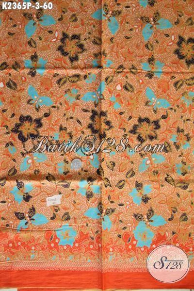 Batik Solo Motif Trendy Warna Elegan, Batik Halus Proses Printing Bahan Pakaian Kerja Wanita Muda Dan Dewasa Bikin Penampilan Lebih Mempesona [K2365P-200x110cm]