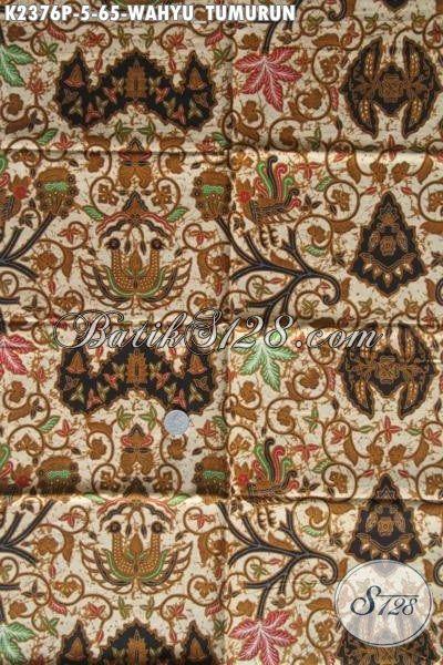 Produk Kain Batik Solo Klasik Motif Wahyu Tumurun, Batik Halus Kwalitas Bagus Harga 65K Proses Printing Cocok Untuk Baju Formal