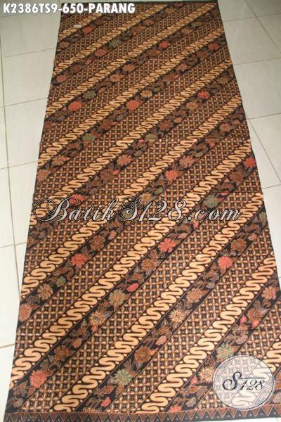 Agen Kain Batik Premium Khas Jawa Tengah, Sedia Batik Mahal Motif Parang Proses Tulis Soga, Istimewa Untuk Busana Formal Nan Berkelas