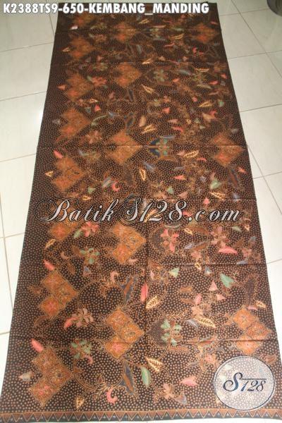 Kain Batik Halus Mewah Motif Kembang Manding Untuk Baju Wanita Pejabat Dan Eksekutif Proses Tulis Soga Tampil Anggun Mempesona