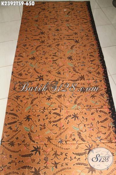 Batik Kain Tulis Soga Mewah Halus Motif Klasik, Batik Jawa Tengah Premium Bahan Busana Berkelas Tampil Sempurna