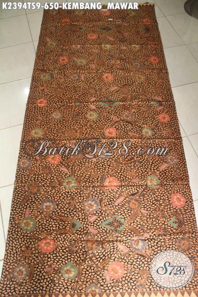 Batik Kain Elegan Motif Klasik Motif Beras Kembang Mawar, Batik Tulis Soga Khas Jawa Tengah Menunjang Penampilan Istimewa Dan Berkelas