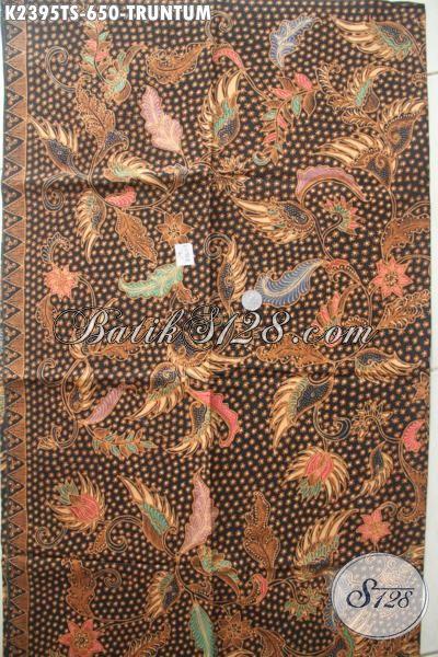 Produk Terbaru Kain Batik Mewah Buatan Solo, Batik Tulis Soga Motif Truntum Bahan Aneka Busana Formal Berkwalitas Tinggi