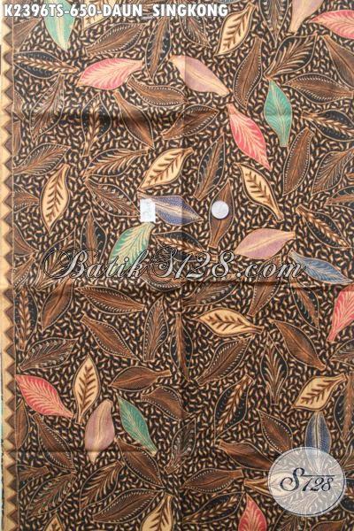 Batik Kain Solo Klasik Motif Daun Singkong, Batik Tulis Soga Nan Mewah Bahan Pakaian Pria Dan Wanita Untuk Tampil Lebih Sempurna