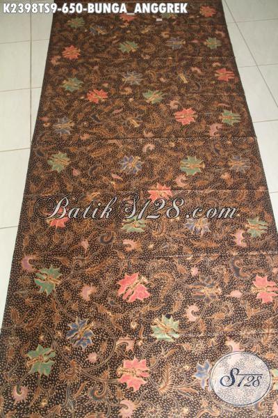 Batik Kain Motif Bunga Anggrek Proses Tulis Soga, Batik Halus Bahan Pakaian Perempuan Sukses Masa Kini Yang Selalu Ingin Tampil Modis Dan Sempurna, Harga 650 Ribu