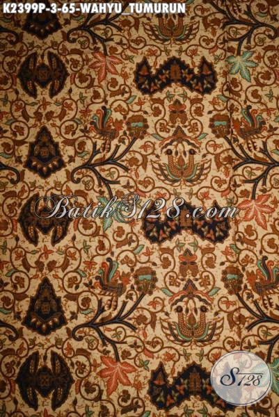 Kain Batik Klasik Bahan Busana Formal Motif Wahyu Tumurun, Produk Batik Solo Proses Printing Kwalitas Halus Harga 65K