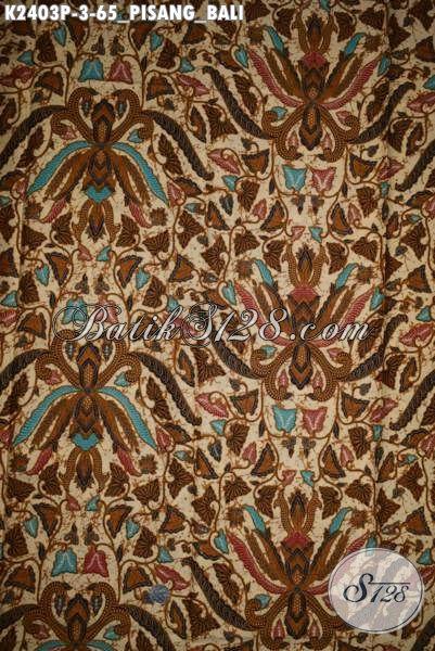 Sedia Kain Batik Pisang Bali Kwalitas Halus Proses Printing Bahan Baju Kerja Wanita Dan Pria Kantoran Penunjang Penampilan Lebih Elegan, Cocok Juga Buat Baju Kondangan