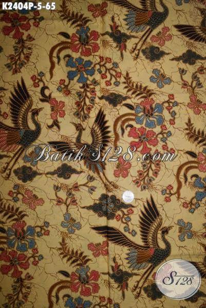 Jual Online Kain Batik Printing Elegan Bahan Pakaian Kwalitas Bagus Untuk Dress Dan Hem