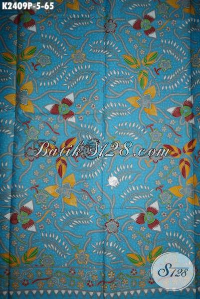 Kain Batik Biru Laut, Produk Batik Kain Istimewa Kwalitas Bagus Harga Murah Proses Printing Untuk Tampil Lebih Stylish