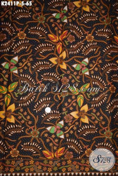 Jual Online Kain Batik Halus Warna Elegan Motif Trendy Proses Printing, Cocok Buat Busana Kerja Kantoran Wanita Karir
