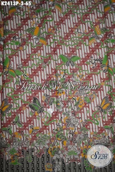 Produk Batik Kain Parang Bunga Dan Kupu, Batik Printing Khas Jawa Tengah Koleksi Terkini 2016 Bahan Busana Pria Dan Wanita Tampil Beda Dan Gaya