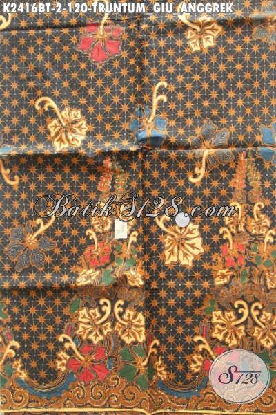 Batik Kain Halus Motif Truntum Giuk Anggrek Proses Kombinasi Tulis, Bahan Pakaian Kerja Wanita Pria Formal Dan Santai Harga 120K [K2416BT-240x105cm]