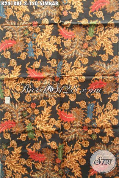 Kain Batik Klasik Motif Klasik Buatan Solo, Batik Bahan Busana Proses Kombinasi Tulis Kwalitas Istimewa Hany 100 Ribuan [K2418BT-240x105cm]