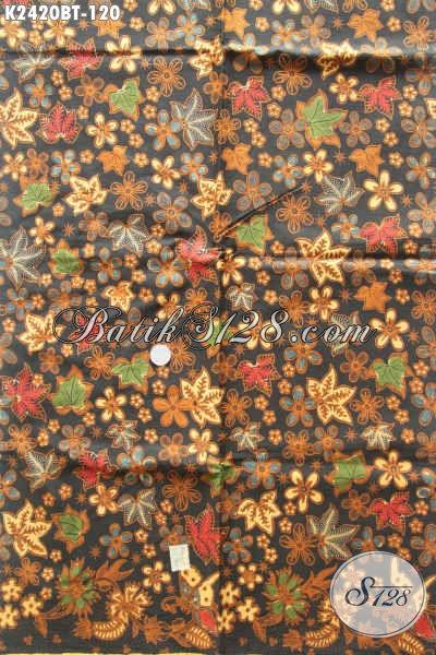 Jual Online Kain Batik Halus Motif Mewah Khas Jawa Tengah, Batik Kombinasi Tulis Harga 100 Ribuan Kwalitas Istimewa [K2420BT-240x105cm]