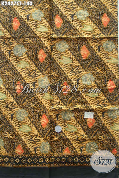 Produk Kain Batik Parang Bunga Proses Cap Tulis, Batik Halus Adem Bahan Dress Dan Kemeja Kwalitas Istimewa