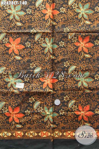 Batik Kain Halus Motif Bunga Warna Elegan, Batik Solo Cap Tulis Bahan Busana Cewek Dress Dan Blus Harga 140K