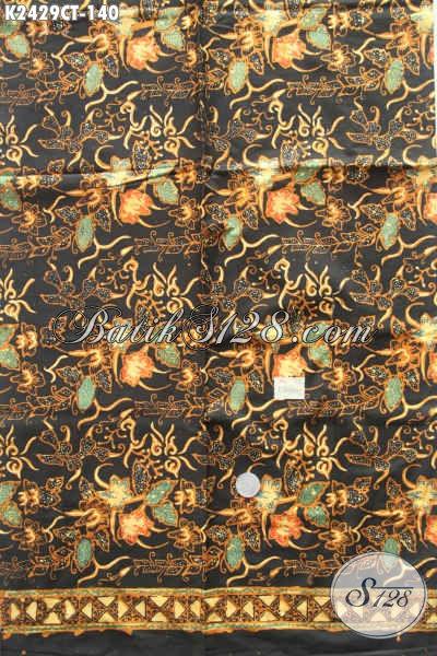 Kain Batik Bahan Blus, Batik Cap Tulis Motif Bunga Untuk Dress, Asli Dari Solo Harga Terjangkau