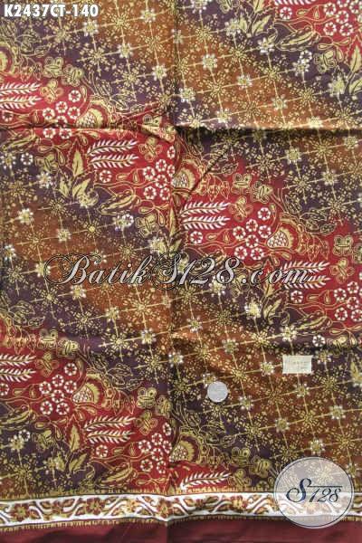 Di Jual Online Kain Batik Solo Terbaru Proses Cap Tulis, Hadir Dengan Motif Keren Dan Elegan Cocok Untuk Baju Formal Dan Santai Pria Wanita [K2437CT-200x110cm]
