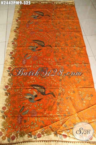 Kain Batik Premium Motif Bagus Banget, Jual Batik Mewah Proses Kombinasi Tulis Bahan Pakaian Berkelas Tampil Lebih Percaya Diri [K2442PM-240x110cm]