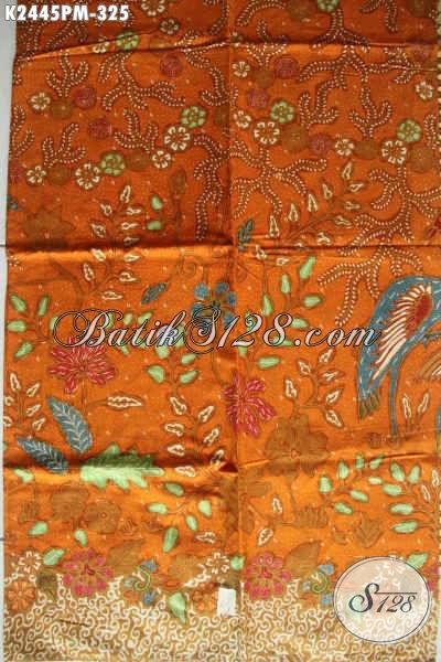 Batik Kain Nan Istimewa Berbahan Halus Proses Kombinasi Tulis Motif Mewah, Batik Solo Untuk Pakain Kerja Tampil Lebih Berkelas Dan Percaya Diri [K2445PM-240x110cm]