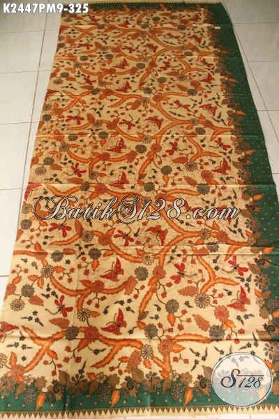 Produk Kain Batik Solo Terkini, Batik Halus Kombinasi Tulis Istimewa 300 Ribuan Bahan Baju Mewah Wanita Dan Pria Kantoran [K2447PM-240x110cm]