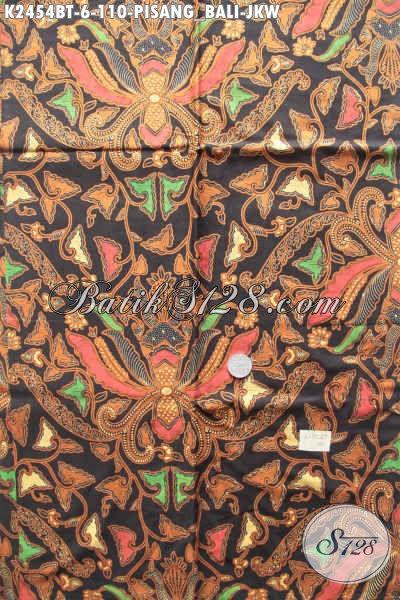 Batik Klasik Pisang Bali Jokowi Proses Kombinasi Tulis, Produk Batik Bahan Kemeja Pria Untuk Tampil Gagah Berkarakter [K2454BT-200x110cm]