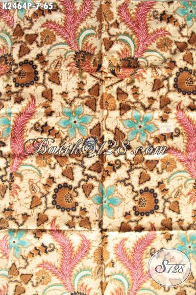 Kain Batik Fashion Buatan Solo, Hadir Dengan Motif Berkelas Dan Mewah Kwalitas Halus Proses Printing Hanya 65K [K2464P-200x110cm]