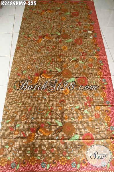 Kain Batik Premium Kombinasi Tulis, Batik Halus Mewah Berkelas Bahan Busana Formal Nan Elegan Hanya 325K [K2489PM-240x110cm]