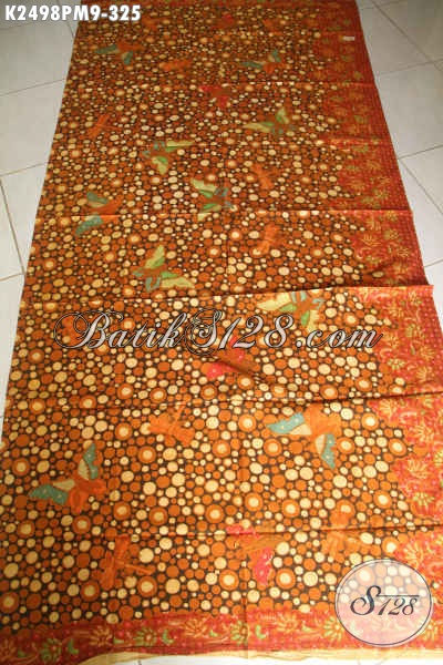 Produk Kain Batik Solo Motif 2017, Batik Halus Kwalitas Istimewa Proses Kombinasi Tulis Bahan Busana Wanita Untuk Kerja Dan Acara Resmi [K2498PM-240x110cm]